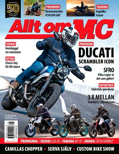 Tidningsomslag Allt om MC - Sveriges bredaste motorcykeltidning